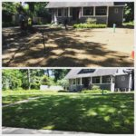 Before and After Lawn Installation St. Louis, MO.