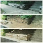 Oak Timber Retaining Wall Replacement St. Louis, MO.