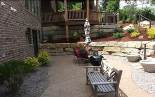 Hardscaping Services Including Retaining Walls, Patio,s And Outdoor Living Areas St. Louis.